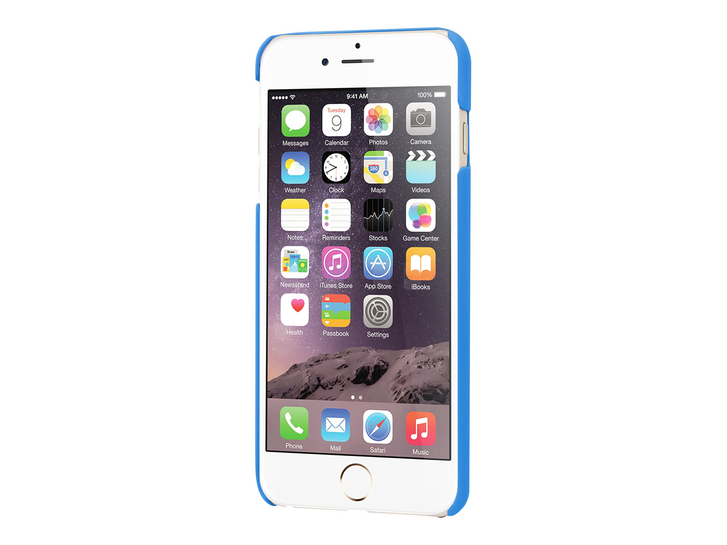 Muvit finition rubber - Coque de protection pour iPhone 6 Plus, 6s Plus - bleu