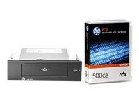HPE RDX Removable Disk Backup System - lecteur RDX - SuperSpeed USB 3.0 - avec Cartouche 500 Go