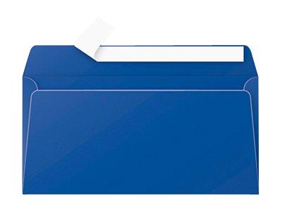 Pollen - Enveloppe - 110 x 220 mm - avec bande (auto-adhésif) - bleu nuit - pack de 20