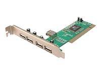 LogiLink PCI Card USB 2.0 4+1 Port USB-adapter PCI USB 2.0 5 porte
