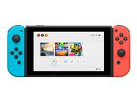 Nintendo Switch with Neon Blue and Neon Red Joy-Con Spilkonsol Full HD