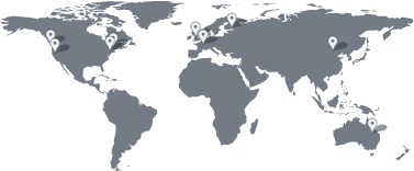 Map of office locations