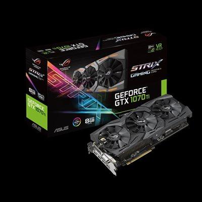 ROG Strix GeForce® GTX 1070 Ti 8GB GDDR5 mit Aura Sync RGB-Beleuchtung für optimales VR- & 4K-Gaming