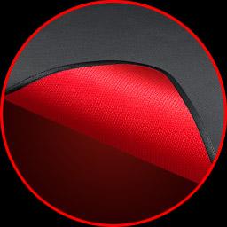Rutschfeste Unterseite aus Gummi in ROG-Rot