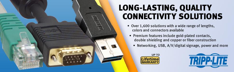 Tripp Lite 6ft USB Cable Kit for KVM Switch 2-in-1 B020 B022 Series KVMs