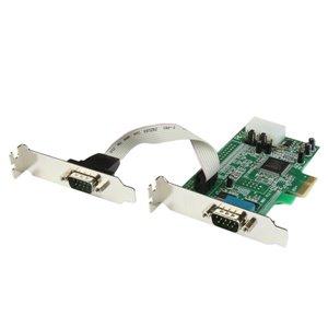 Permet d'ajouter 2 ports série RS-232 haut débit à votre ordinateur de faible encombrement/à facteur de forme petit doté d'un emplacement d'extension PCI