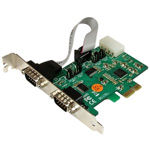 StarTech.com 2 Port Industrial PCIe RS232 Serial Card w/ Power and ESD