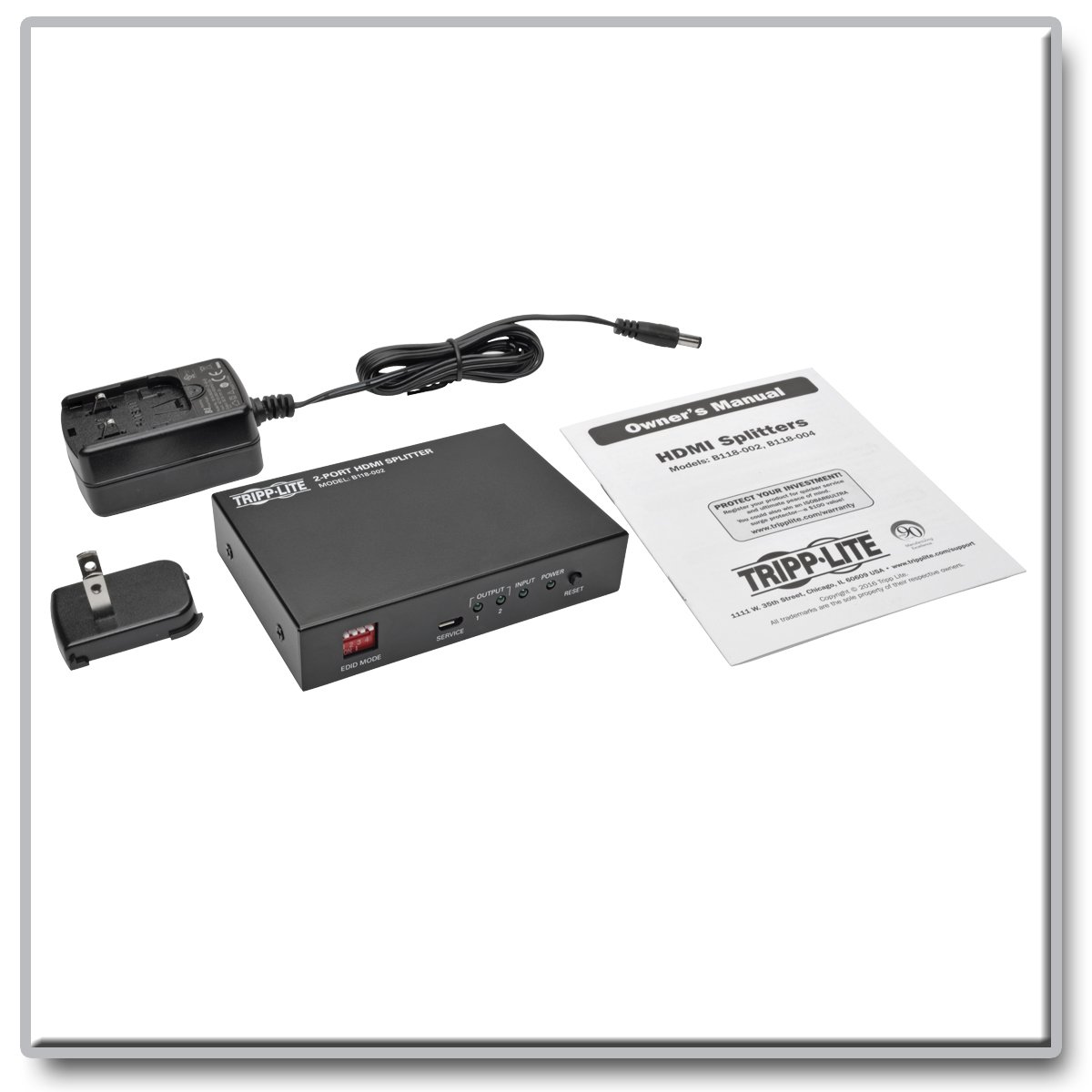 Tripp Lite 2-Port HDMI Splitter for Video with