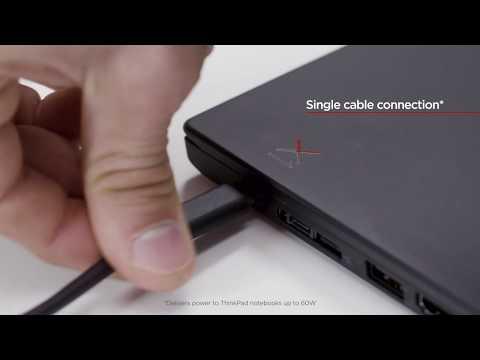 PCM | Lenovo, ThinkPad USB-C Dock - Docking station - USB-C - VGA