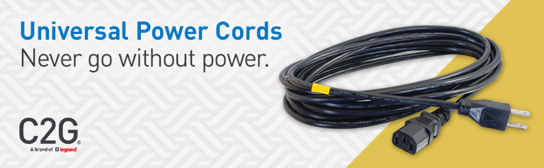 Cables To Go 09482 Universal 18 Awg Power Cord 15 Ft