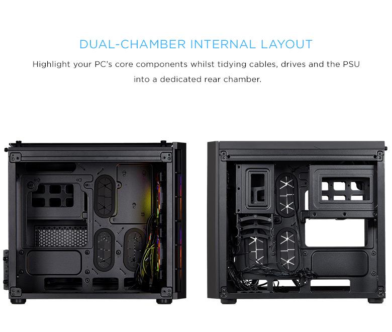Corsair CRYSTAL SERIES 280X BLACK RGB