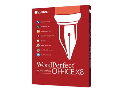 WordPerfect Office X8 Professional Edition Upgrade license 1 user download ESD Win