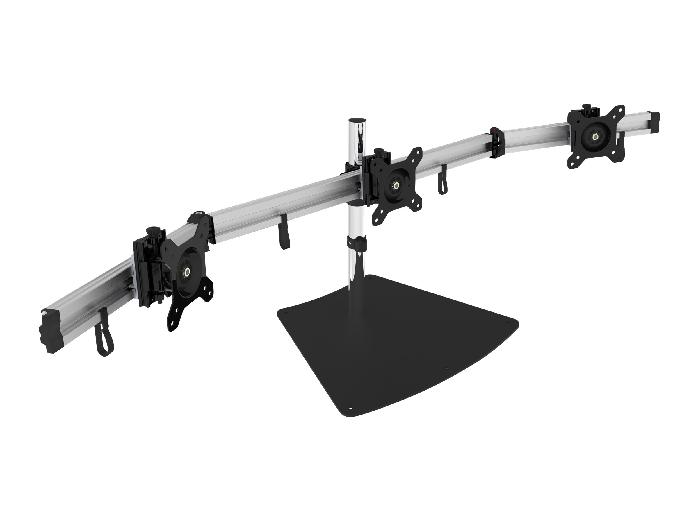 SIIG CE-MT2111-S1 Easy-Adjust Triple Monitor Desk Stand - desk mount
