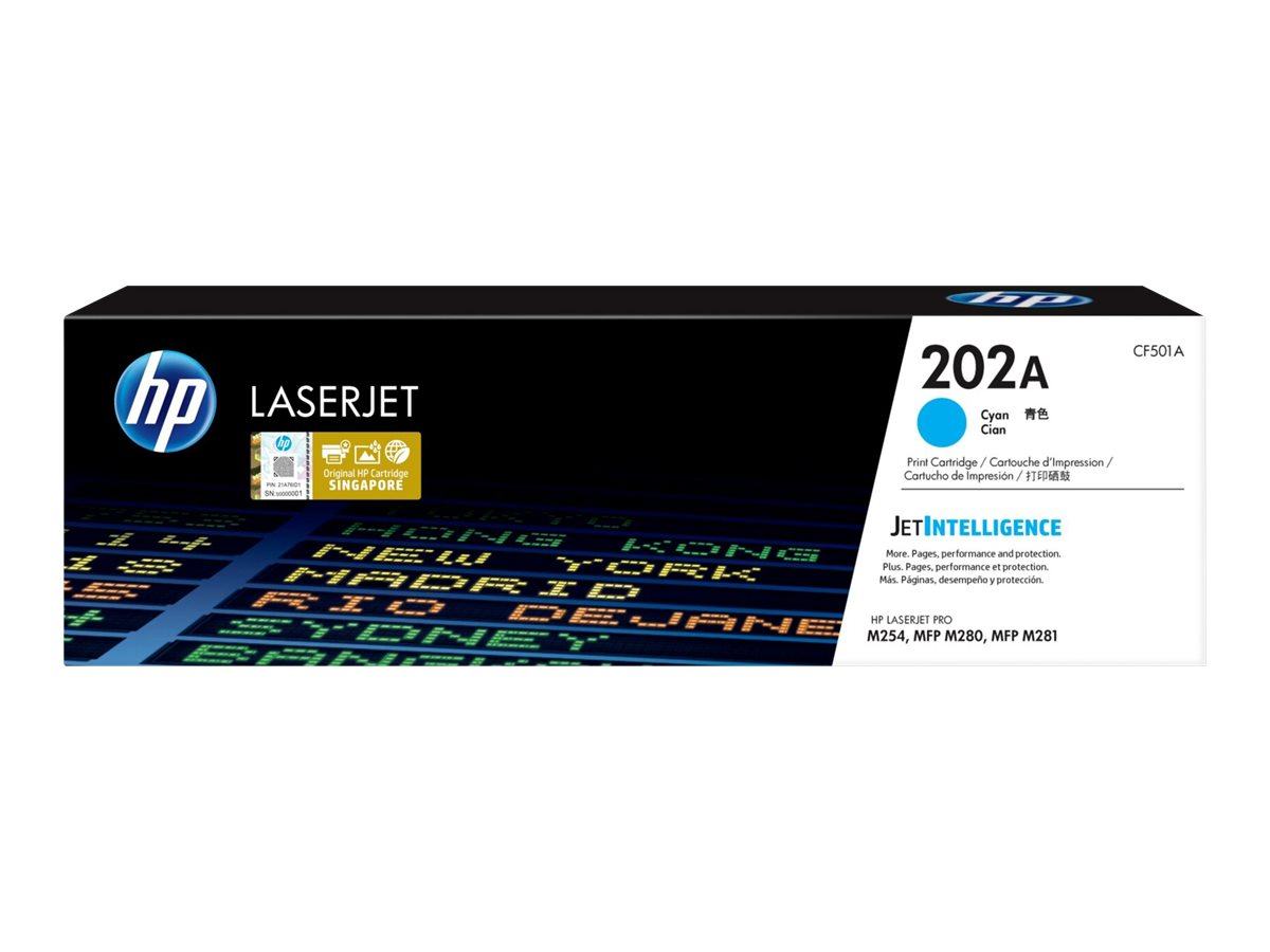HP 202A - cyan - original - LaserJet - toner cartridge (CF501A)