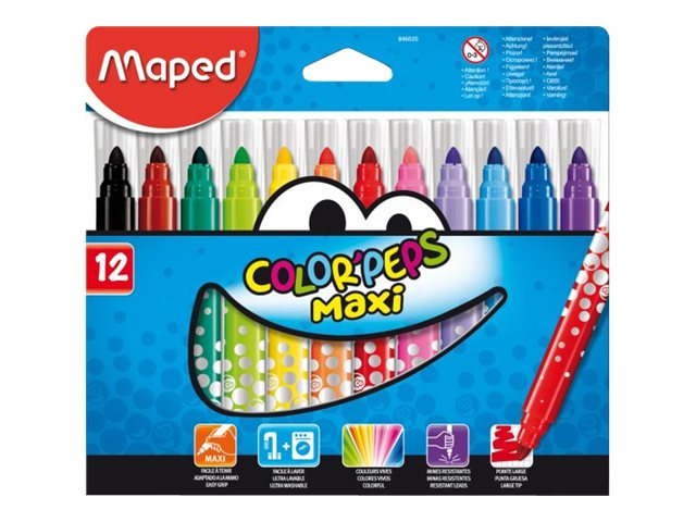 Maped Color'Peps Maxi - Feutres - Pointe large