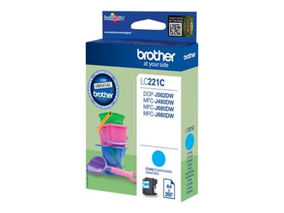 Brother LC 221C Cyan 260 sider