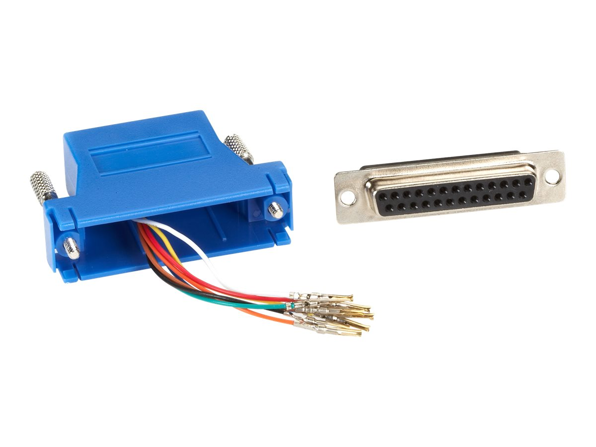 Black Box Colored Modular Adapter serial RS-232 cable - blue