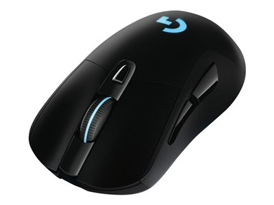 Logitech Wireless Gaming Mouse G703 LIGHTSPEED HERO 16K Sensor Optisk Trådløs Kabling Sort
