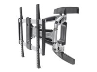 "Manhattan Monitor/TV Wall Mount, Full Motion (3 pivots & tiltable), 1 screen, 32-55"", Vesa 100x100 to 400x400mm, Max 50kg, Black - Wall mount for LCD ..."