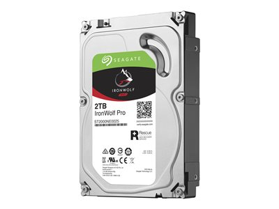 Seagate IronWolf Pro ST2000NE0025 Hard drive 2 TB internal 3.5INCH SATA 6Gb/s 7200 rpm