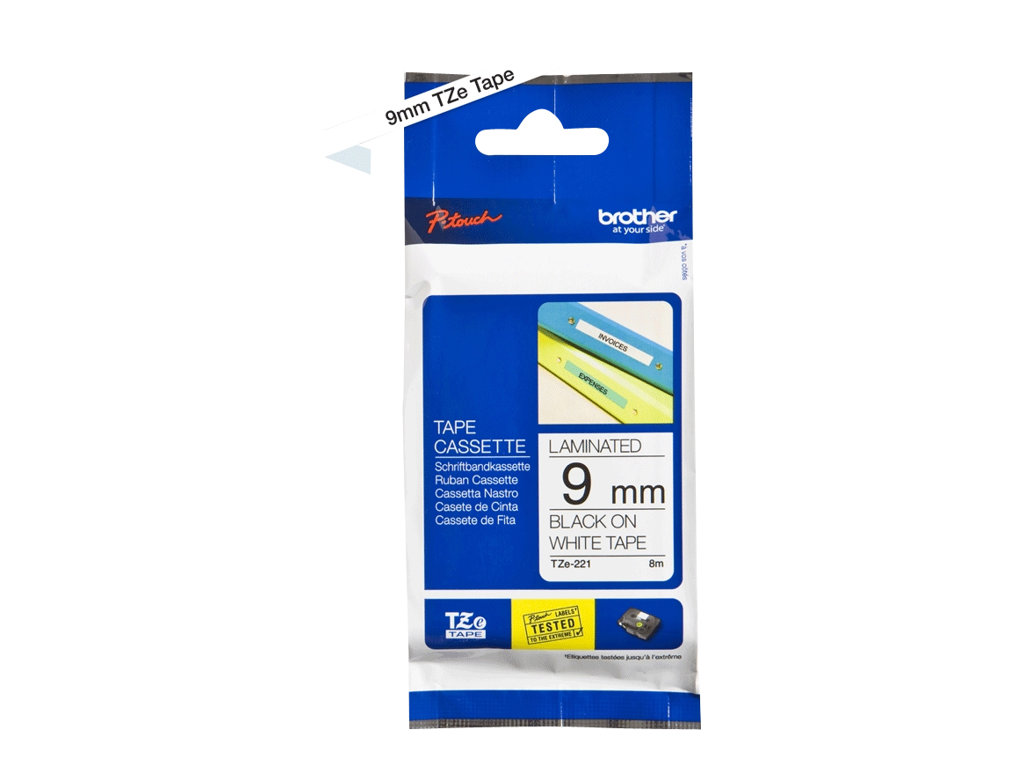 Brother TZe-221 - laminated tape - 1 roll(s) - Roll (0.9 cm x 8 m)