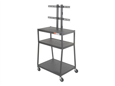 BALT Wide Body Flat Panel TV Cart Cart for LCD display steel black powder coat