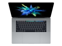"Apple MacBook Pro with Touch Bar - Core i7 2.6 GHz - macOS 10.13 High Sierra - 16 GB RAM - 256 GB SSD - 15.4"" IPS 2880 x 1800 (WQXGA+) - Radeon Pro 450 / HD Graphics 530 - Wi-Fi, Bluetooth - space grey - kbd: English"