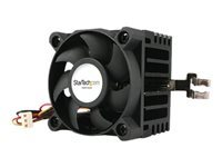 StarTech.com 50x41mm Socket 7/370 CPU Cooler Fan w/ Heatsink and TX3 and LP4 - Processor cooler - (Socket 370, Socket 7) - aluminium - 50 mm - black