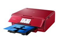 Canon PIXMA TS8152 - Imprimante multifonctions - couleur - jet d'encre - 216 x 297 mm (original) - A4/Legal (support) - jusqu'à 15 ipm (impression) - 120 feuilles - USB 2.0, Wi-Fi(n), Bluetooth - rouge