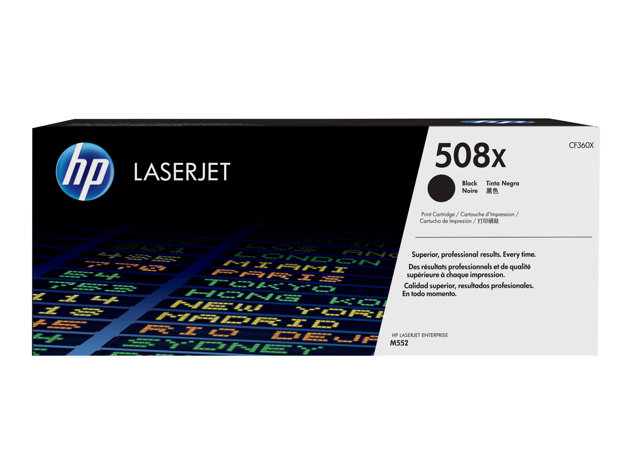 HP 508X - High Yield - black - original - LaserJet - toner cartridge (CF360X)