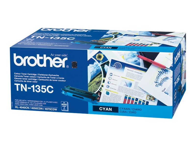 Brother TN135C - Hohe Ergiebigkeit - Cyan - Original - Tonerpatrone - für Brother DCP-9040, 9042, 9045, HL-4040, 4050, 4070, MFC-9420, 9440, 9450, 9840