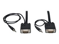 Tripp Lite 35ft VGA Coax Monitor Cable with Audio and RGB High Resolution HD15 3.5mm M/M 35'