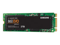 Samsung 860 EVO MZ-N6E2T0BW - Disque SSD - chiffré - 2 To - interne - M.2 2280 - SATA 6Gb/s - mémoire tampon : 2 Go - AES 256 bits - TCG Opal Encryption 2.0