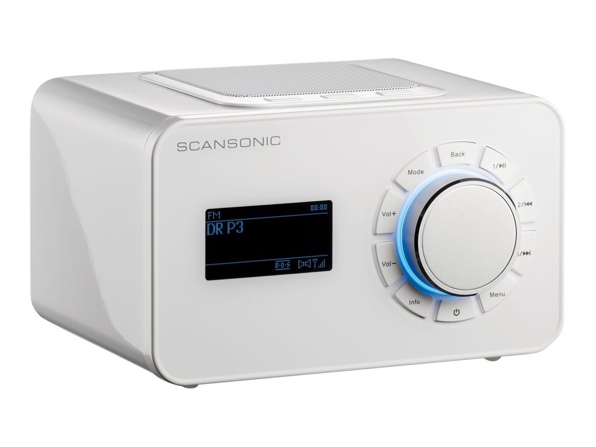 Scansonic R4S - Netzwerk-Audio-Player - 7 Watt (Gesamt) - High-Gloss White