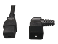 Tripp Lite 2ft Power Cord Extension Cable C19 to Right Angle Heavy Duty 20A 12AWG C20 2'