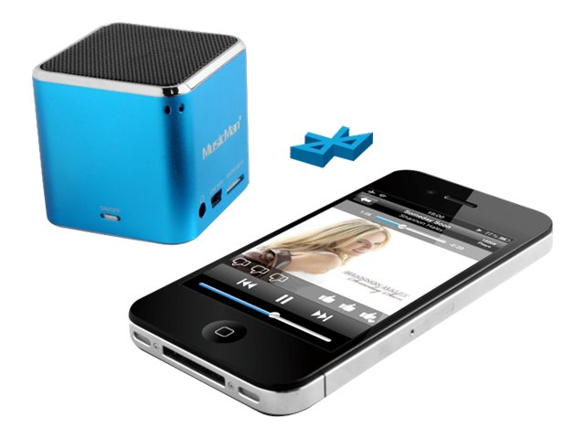 Technaxx MusicMan Mini Wireless Soundstation BT-X2 - Lautsprecher - tragbar - drahtlos - Bluetooth - Blau