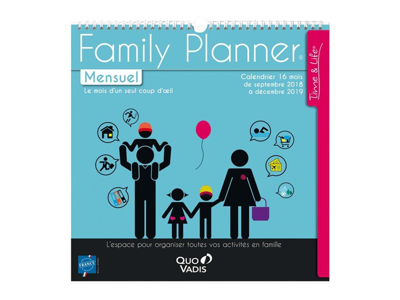 Calendriers & Planning Calendrier Family Planner Mensuel 30X30cm Quo Vadis