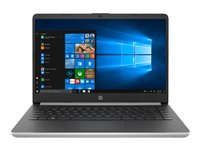 "HP 14s-dq0002nf - Pentium Gold 4417U / 2.3 GHz - Win 10 Home in S mode - 4 Go RAM - 128 Go SSD - 14"" 1366 x 768 (HD) - HD Graphics 610 - Wi-Fi, Bluetooth - argent naturel, motif brossé vertical - clavier : Français"