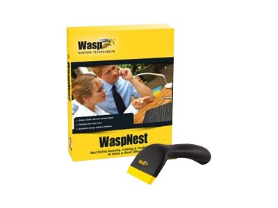 Wasp WCS3950 Barcode scanner handheld 45 scan / sec decoded USB