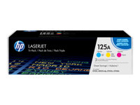 HP 125A CYM Tri-Pack LaserJet Toner Cartridge