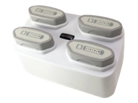 Code Quad-Bay Battery Charger - Battery charger - output connectors: 4 - United States - white - for Code Reader CR2700