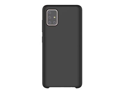 KDLab Typoskin Cover GP-FPA515KDB - Back cover for cell phone - liquid silicone - black - for Galaxy A51