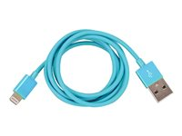I/OMagic Lightning cable Lightning (M) to USB (M) 4 ft blue
