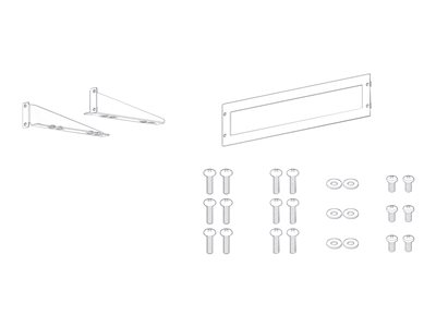 Sony WS-UBPRE1 Mounting kit (2 brackets, front bracket) for Blu-ray Disc Player rack