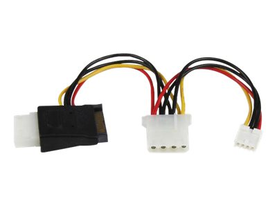 StarTech.com LP4 to SATA Power Cable Adapter with Floppy Power (LP4SATAFMD) - power adapter