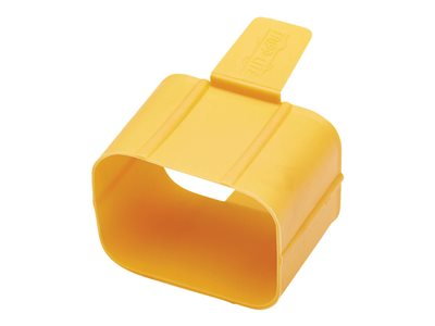 Tripp Lite Plug-Lock Inserts, C19 Power Cord to C20 Outlet, Yellow, 100 Pack
