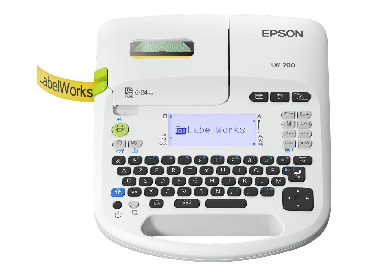 Epson LabelWorks LW-700 - Beschriftungsgerät - s/w - Thermotransfer - Rolle (2,4 cm) - 180 dpi