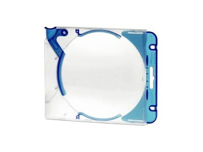 Exponent CD JET Standard With Clips - CD/DVD-Mappe - Kapazität: 1 CD, 1 DVD - Blau, neutral (Packung mit 10)