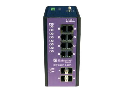Extreme Networks ExtremeSwitching Industrial Ethernet Switches ISW 8GBP,4-SFP Switch managed