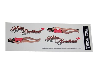 "Decal Zone - Nose Art ""Asian Sweetheart"" Sticker Decal"
